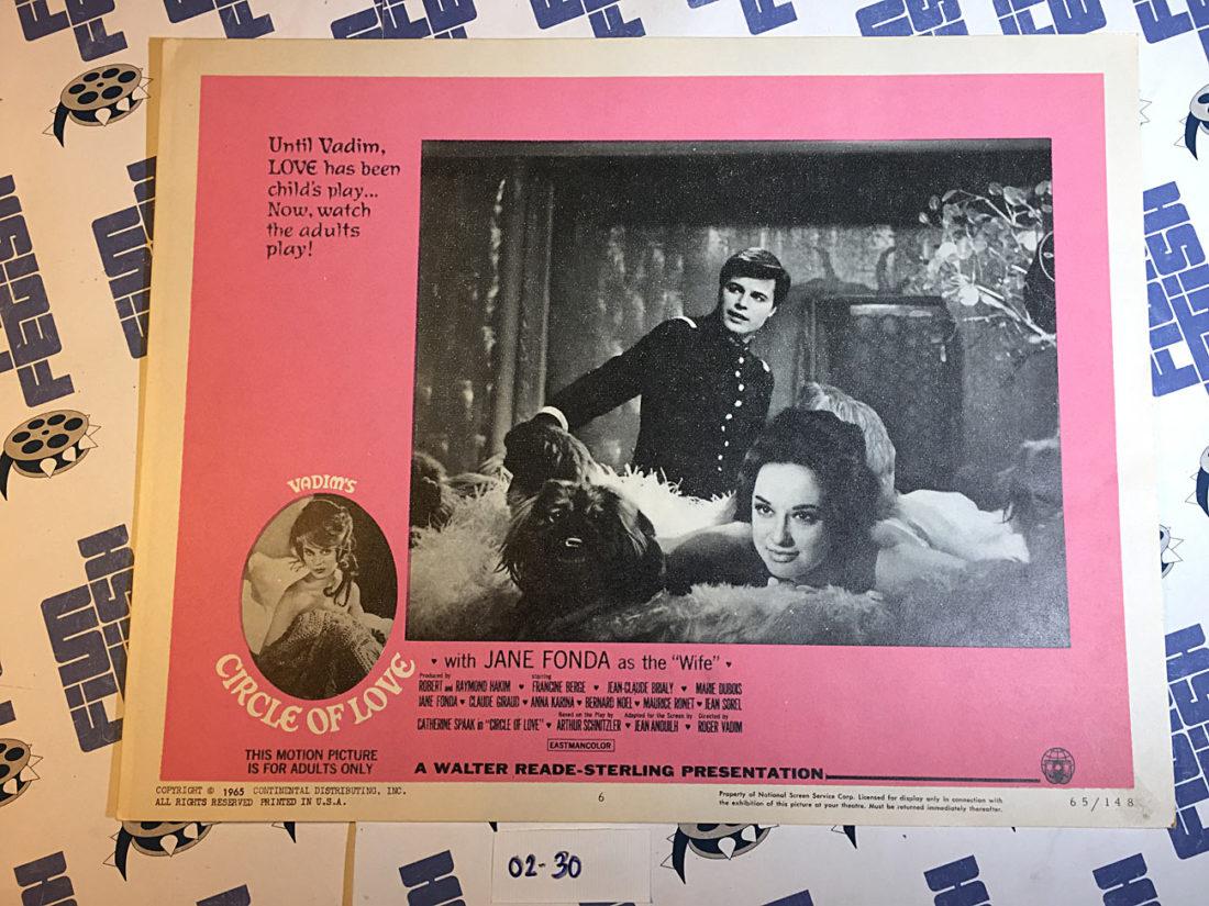 Circle of Love (La ronde) Original Lobby Card, Roger Vadim, Jane Fonda (1964) [230]