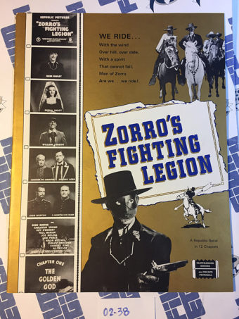 Zorro's Fighting Legion Republic Serial Cliffhanger Press Book J.Mathis (1939) [238]