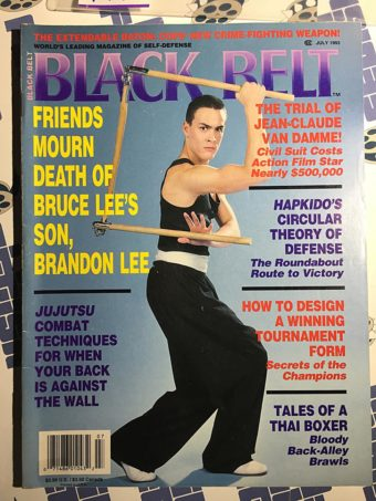 Black Belt Magazine (July 1993) Brandon Lee, Jean-Claude Van Damme [9184]