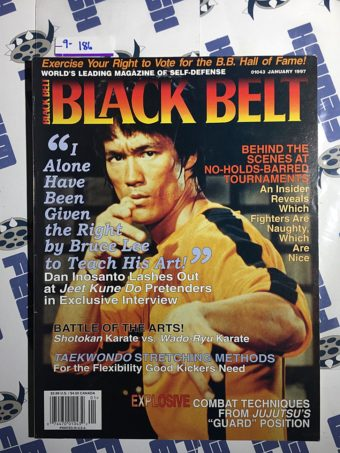 Black Belt Magazine (January 1997) Bruce Lee, Dan Inosanto [9186]