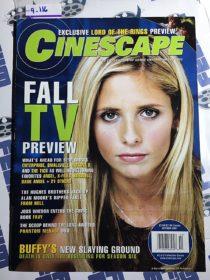 Cinescape Magazine (October 2001, No. 53) Sarah Michelle Gellar [9116]