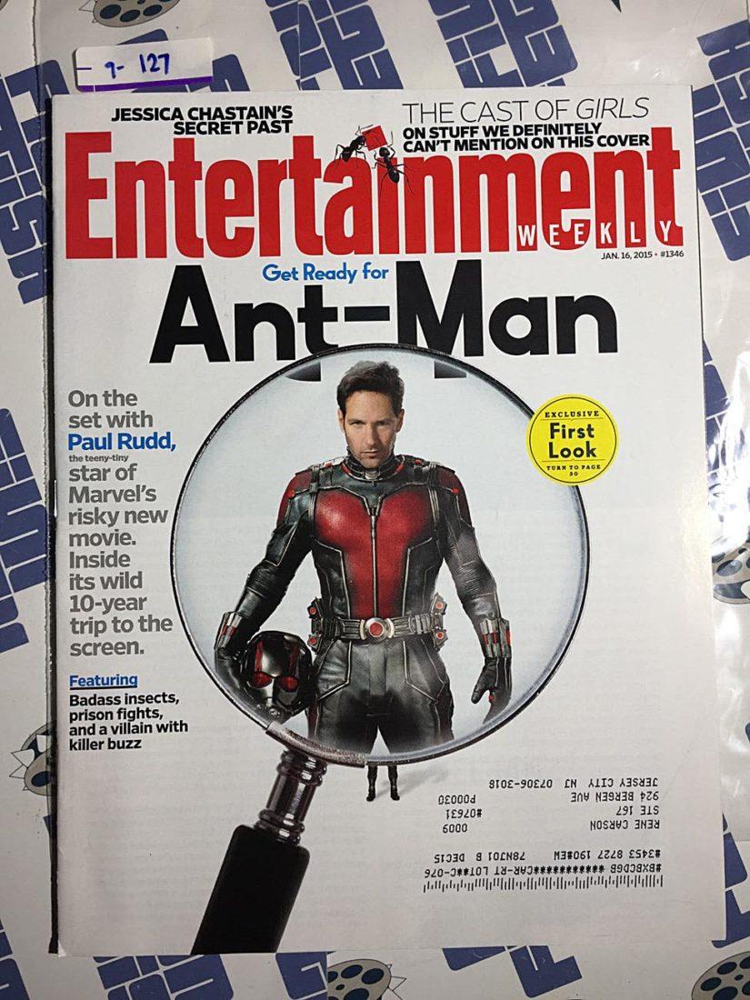 Entertainment Weekly Magazine (Jan. 16, 2015) Paul Rudd, Jessica Chastain, Ant-Man [9127]