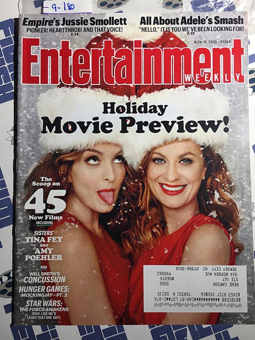 Entertainment Weekly Magazine (Nov 6, 2015) Tina Fey, Amy Poehler, Will Smith [9180]