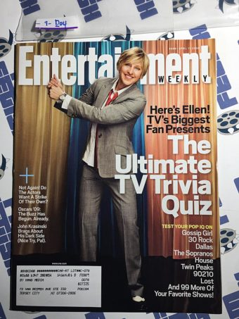 Entertainment Weekly Magazine (April 11, 2008) Ellen DeGeneres [9204]