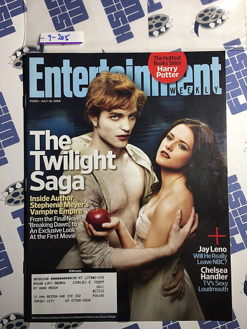 Entertainment Weekly Magazine (July 18, 2008) Stephenie Meyer, The Twilight Saga [9205]