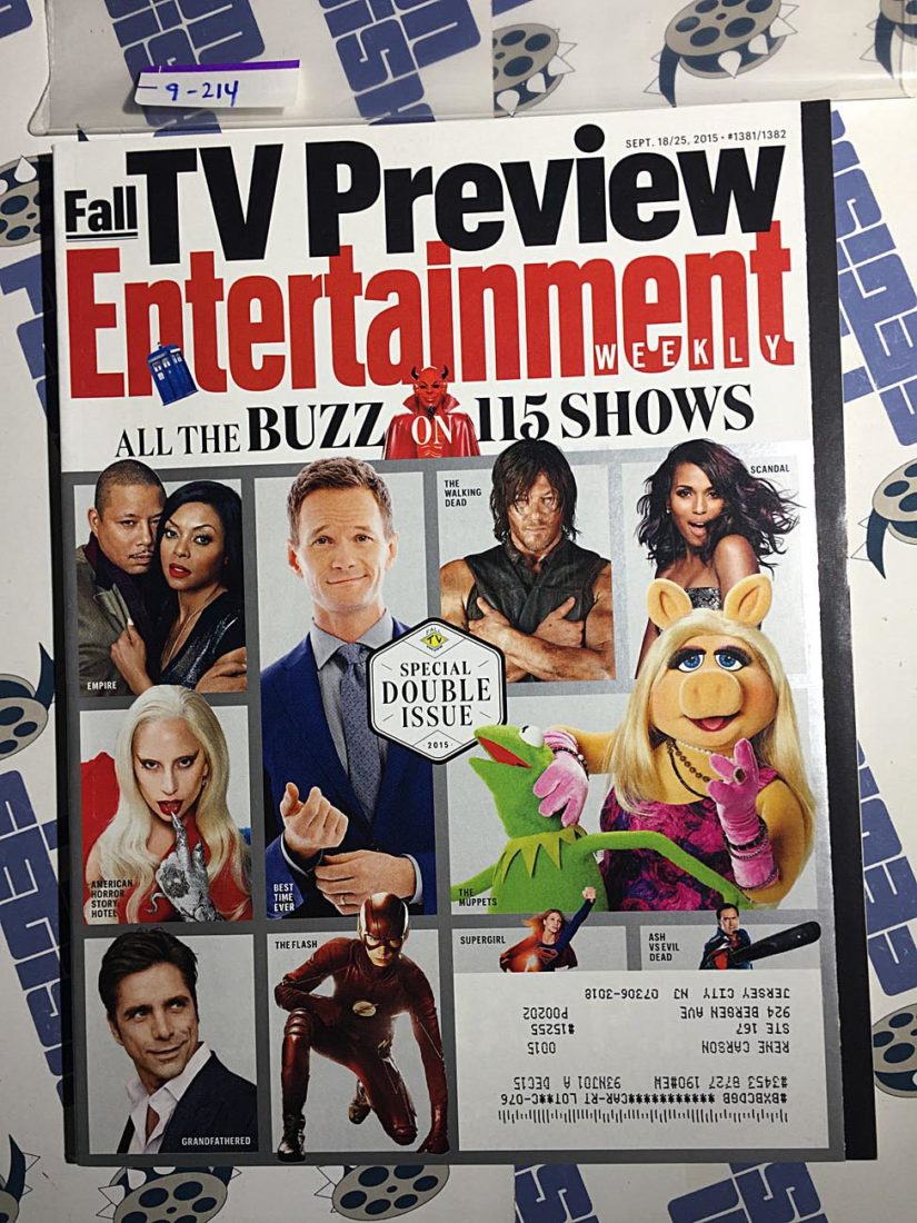 Entertainment Weekly Magazine (Sept 18-25, 2015) Fall TV Preview, The Walking Dead [9214]