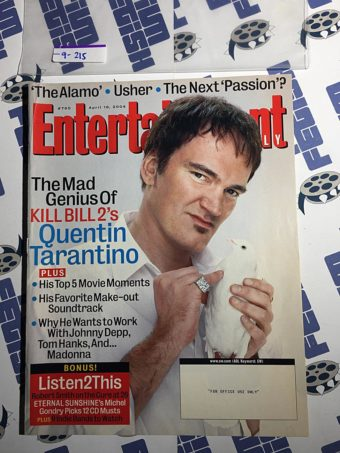 Entertainment Weekly Magazine (April 16, 2004) Quentin Tarantino, Kill Bill 2 [9215]