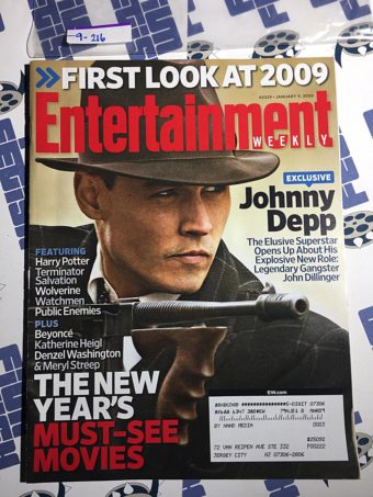 Entertainment Weekly Magazine (Jan 9, 2009) Johnny Depp, Public Enemies [9216]