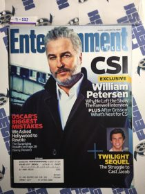 Entertainment Weekly Magazine (Jan 16, 2009) William Petersen, Taylor Lautner [9222]