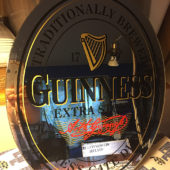 Guinness Extra Stout 13 x 16 inch Oval Glass Decorative Mirror