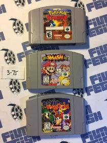 Banjo Kazooie, Super Smash Bros, and Pokemon Stadium Nintendo N64 Games Set [375]