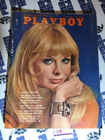 Playboy Magazine (September 1968) Stanley Kubrick, Kurt Vonnegut Jr. [1181]