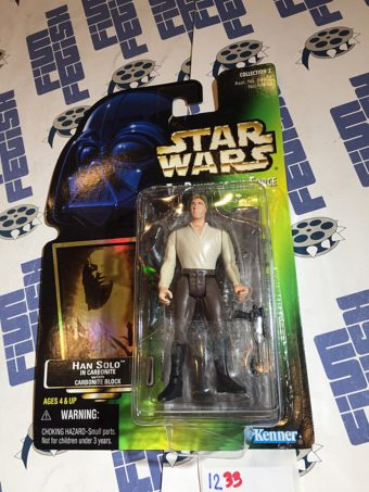 Star Wars: The Power of the Force – Han Solo In Carbonite with Carbonite Block Action Figure [1233]