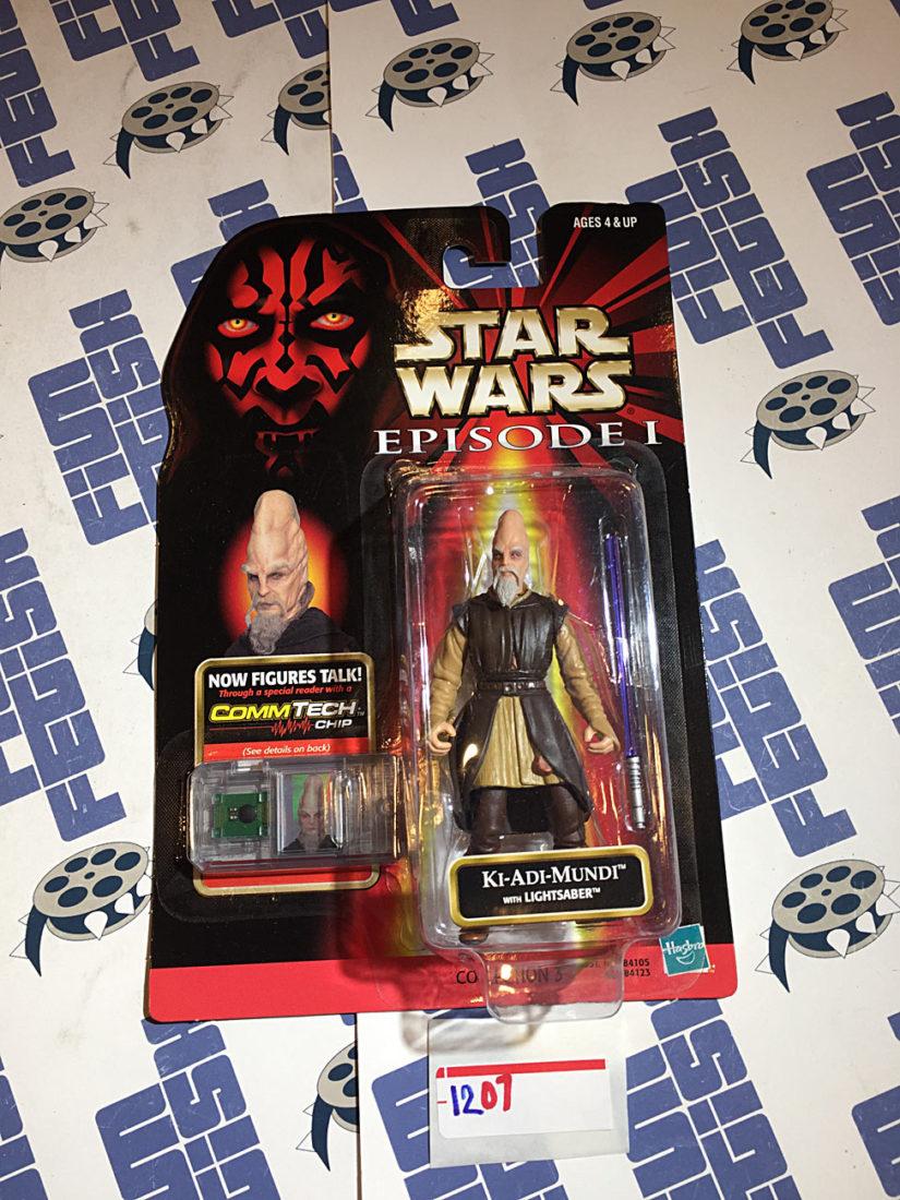 Star Wars: Episode I Ki-Adi-Mundi Action Figure and Lightsaber with Talking CommTech Chip [1207]