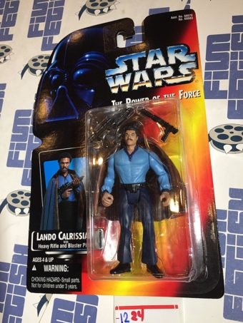 Star Wars: The Power of the Force Lando Calrissian with Heavy Rifle and Blaster Action Figure (1995) [1224]