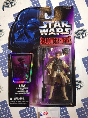 Star Wars: Shadows of the Empire Leia in Boushh Disguise with Blaster Rifle and Bounty Hunter Helmet Action Figure (1996) [1208]