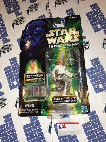Star Wars: The Power of the Force – Luke Skywalker with T-16 Skyhopper Model and Talking CommTech Chip (1999) [1226]