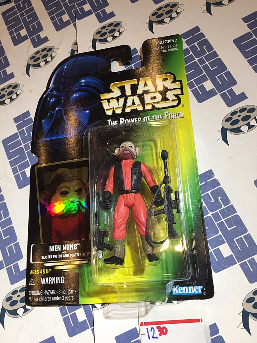Star Wars: The Power of the Force Nien Nunb with Blaster Pistol and Rifle (1997) [1230]
