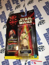 Star Wars: Episode I Qui-Gon Jinn Jedi Duel with Lightsaber and Talking CommTech Chip (1998) [1236]