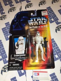 Star Wars: The Power of the Force – Stormtrooper with Blaster Rifle and Heavy Infantry Cannon Action Figure (1995) [1231]