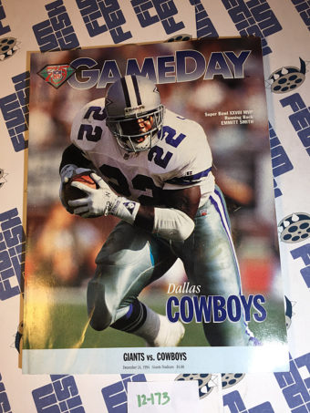 Gameday Magazine (Dec. 24, 1994) New York Giants vs. Dallas Cowboys at Giants Stadium – Emmitt Smith [12173]