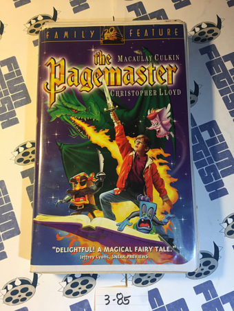 The Pagemaster VHS Family Clamshell Feature Edition (1995) Macaulay Culkin [385]