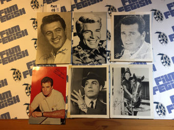 Set of 7 Original Classic Television Actor Publicity Photos: Vince Edwards, James Garner, Paul Burke and More PHO08