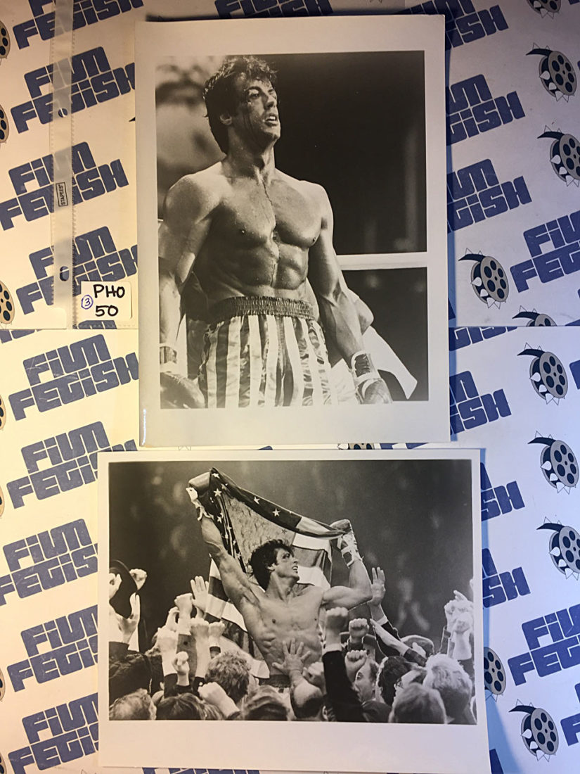 Set of 3 Sylvester Stallone Publicity Photos from Rocky IV and Rambo [PHO50]