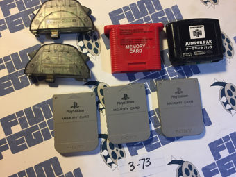 Lot of 7 Playstation and Nintendo Memory Packs, Jumper Pak [373]