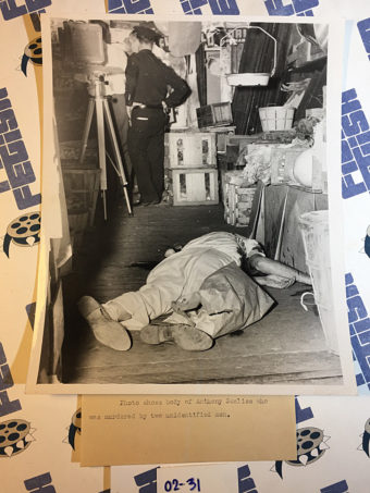 Original Crime Scene Photos by Topping – Anthony Scalise Murder Scene