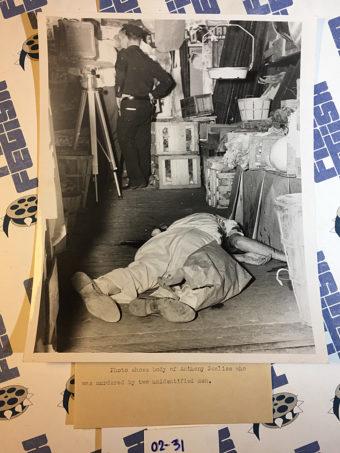 Original Crime Scene Photos by Topping – Anthony Scalise Murder Scene
