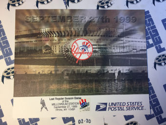 New York Yankees Last Regular Season Game of the Millennium September 27, 1999 USPS First Day Cover Bronx [220]