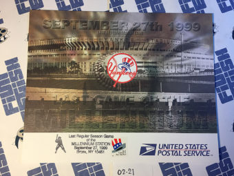 New York Yankees Last Regular Season Game of the Millennium September 27, 1999 USPS First Day Cover Bronx [221]