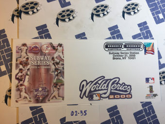 New York Yankees vs. Mets World Series October 21, 2000 USPS First Day Cover Bronx [235]