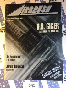 Airbrush Action Magazine (January/February 1987) H.R. Giger, Black and White Airbrushing [672]