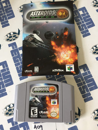 Asteroids Hyper Nintendo 64 N64 RARE Complete with Box and Manual (1999)