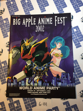 Big Apple Anime Fest World Anime Party & Anime Expo, Times Square New York City Program Guide (2002) [6101]