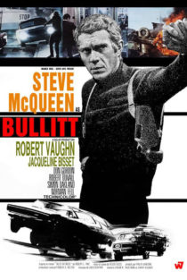Steve McQueen Bullitt 24 x 36 inch Movie Poster (1968)