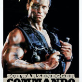 Arnold Schwarzenegger Commando 24 x 36 inch Movie Poster