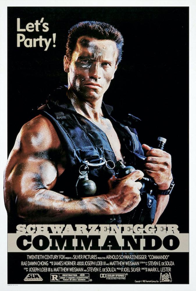 Arnold Schwarzenegger Commando 24 x 36 inch Movie Poster