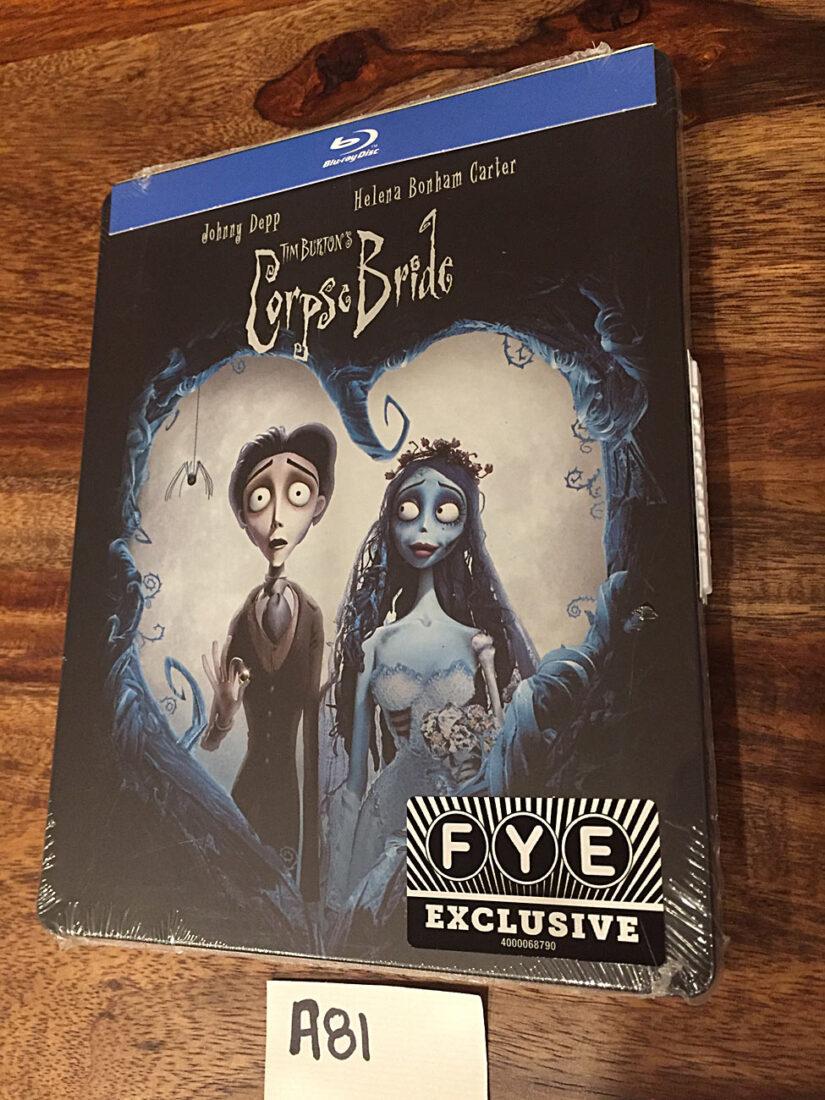 Tim Burton's Corpse Bride Exclusive Steelbook Blu-ray Edition (2019) [A81]