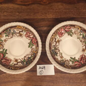 Vintage Devonshire Johnson Bros England Set Of 2 Saucers Pat. N. 118579