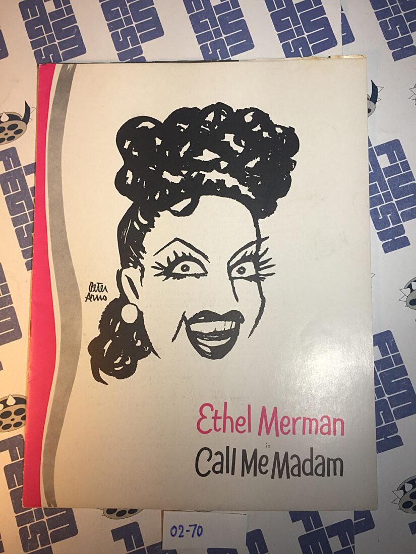 Ethel Merman in Call Me Madam Theater Souvenir Program Guide