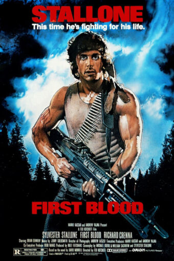 Sylvester Stallone First Blood 24 x 36 inch Movie Poster (1982)