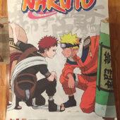 Naruto 31 x 42 inch Fabric Banner Poster –  Sasuke Uchiha and Kakashi Hatake [A90]
