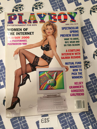 Playboy Magazine (April 1996) Women of the Internet, Salman Rushdie, Kelsey Grammer's Girlfriend [E25]