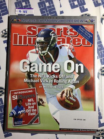 Sports Illustrated Magazine (September 20, 2004) Michael Vick, NASCAR Preview, Edgerrin James
