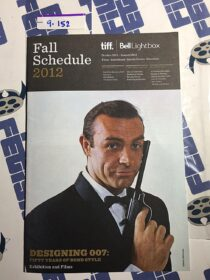 TIFF Bell Lightbox Toronto Canada Fall 2012 Schedule Guide – Designing 007: Fifty Years of James Bond Style Sean Connery Cover