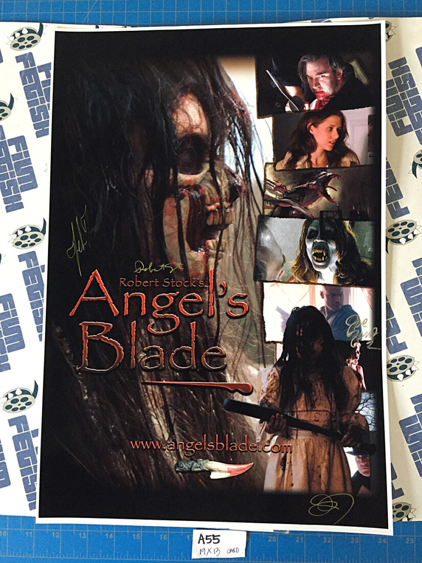 Angel's Blade 13 x 19 Movie Poster Signed by Director and Cast, Joe Zaso, Robert Stock (2008) [A55]