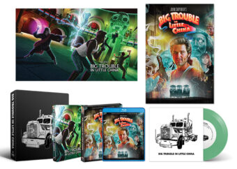 Big Trouble In Little China Collector's Set: Limited Edition Steelbook + Special Edition Blu-ray 28.5″ X 16.5″ Lithograph Poster + 18″ X 24″ Rolled Poster + 7″ Green Vinyl Record